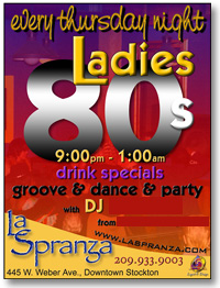 Ladies 80's Night EVERY Thursday!